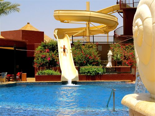fun water slide in Jordan