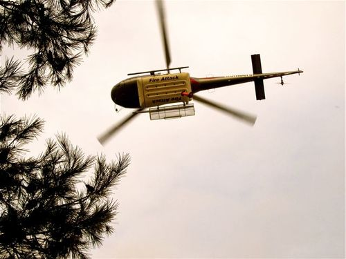 helicopter travel disaster fire
