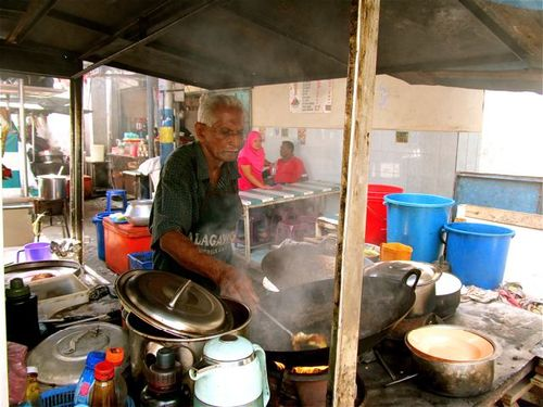 cooking Indian food in little India in Penang