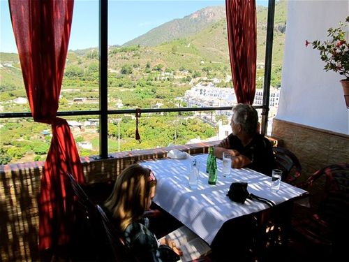restaurant with view in Andalusia