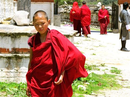Bhutan Monastery- young Buddhist monk