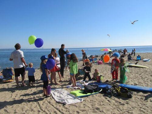 Capitola beach on Halloween surfboards