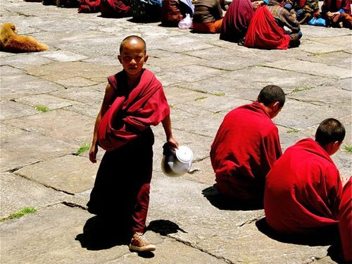 littlest monk in Bhutan