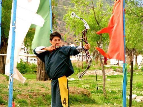 Bhutan archery contest