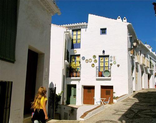 quaint Spanish white washed village