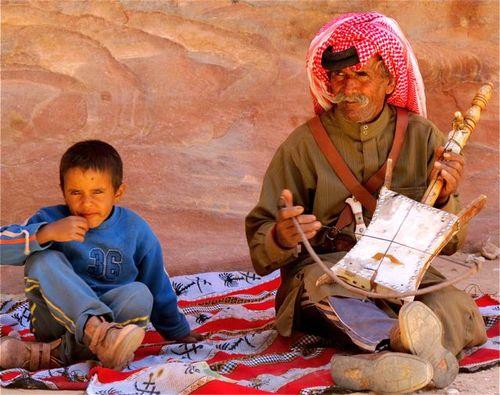 Jordan musician at Petra
