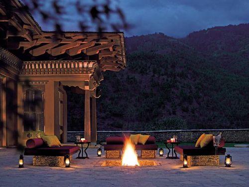 Taj Tashi Outdoor Bonfire Bhutan
