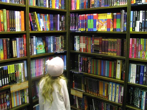 kid in a candy store..erm book store