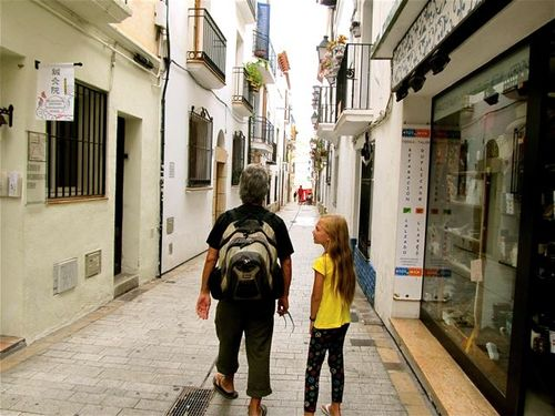 exploring a cute while village in Spain near Barcelona