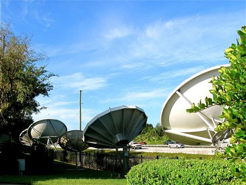 huge TV station satellites