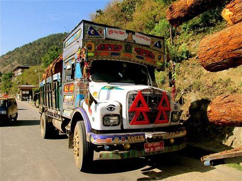 beautiful Bhutan..even the trucks!