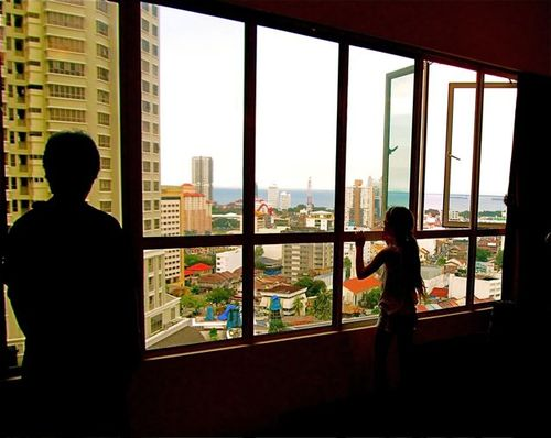 Rental condo in Times Square - checking out the city and sea views in Georgetown, Penang