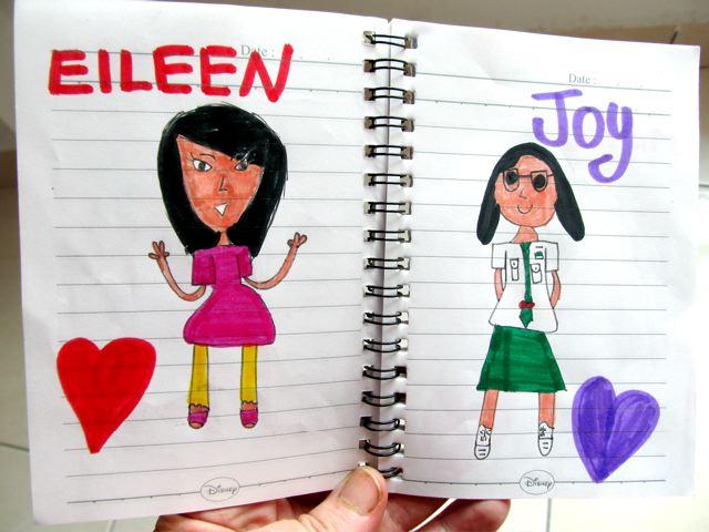 drawing of friends international friends at Mandarin school in Asia