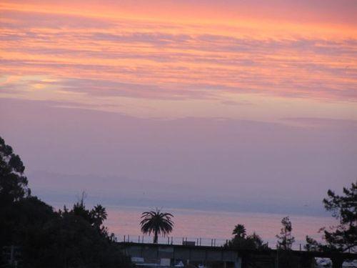 California beach sunrise at Christmas