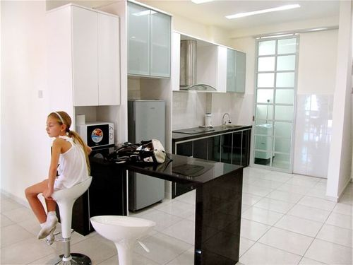 Penang rental condo - our second choice kitchen