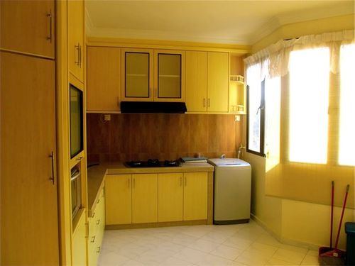 Many kitchens in Penang upscale rentals include washer and dryer