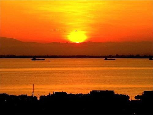 Finding a vacation rental apartment in Penang-  beautiful sunrise from ours!