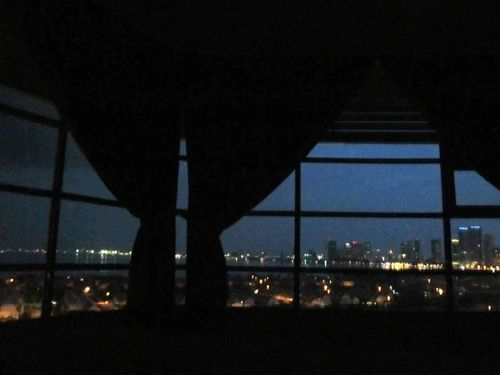 Love the enticing Penang night time views from our bed