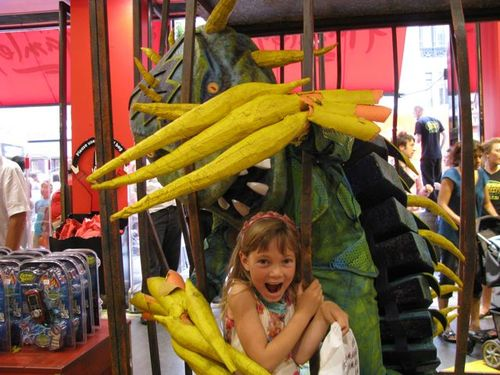 travel kid playing at Hamleys in London