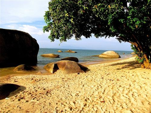 typical beach in Penang