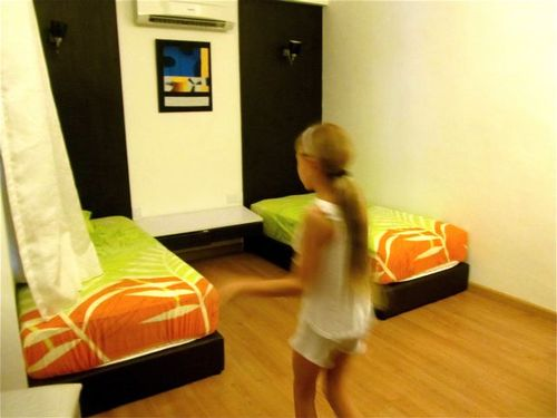 Checking out a kid's bedroom in Penang rental condo