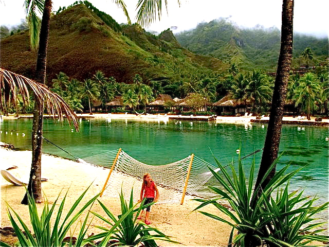 gorgeous Tahiti from hammock -tips on low budget French Polynesia