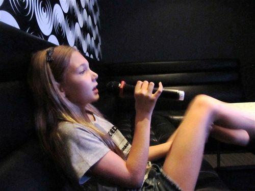 Having a ball singing Karaoke in Asia
