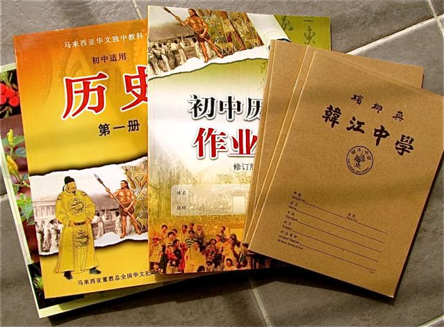 Learning Mandarin in Asia - my kids Chinese history, biology and note books