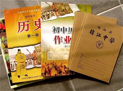 Learning Mandarin in Asia - school books
