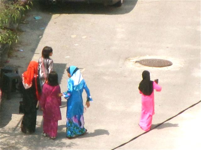 Neighboring women and girls celebrating  Eid ul-Fitr Festival