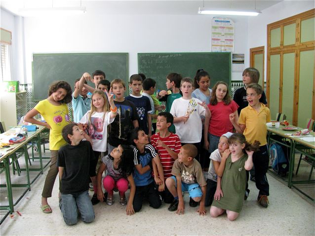 School in Spain with one American kid