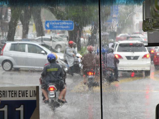 Bad traffic in Penang- I've seen 3 bad motor cycle accidents just from my terrace