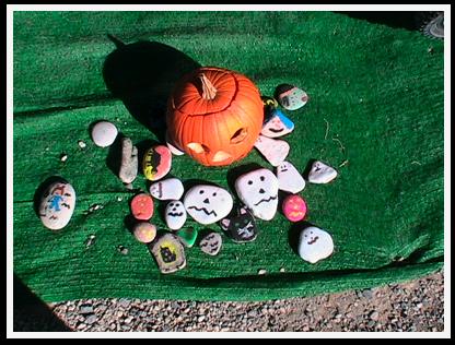 pumpkin display in Europe