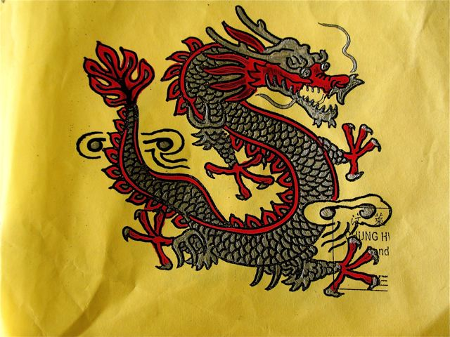 Chinese dragon and visiting China