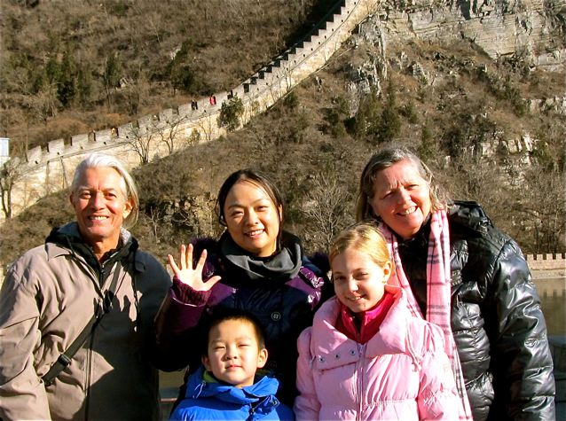 Visiting the Great Wall with our Chinese family