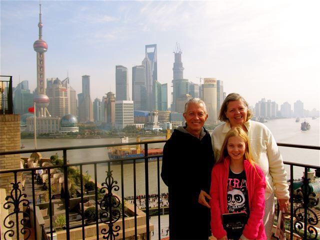 Shanghai skyline from Fairmont's Peace hotel