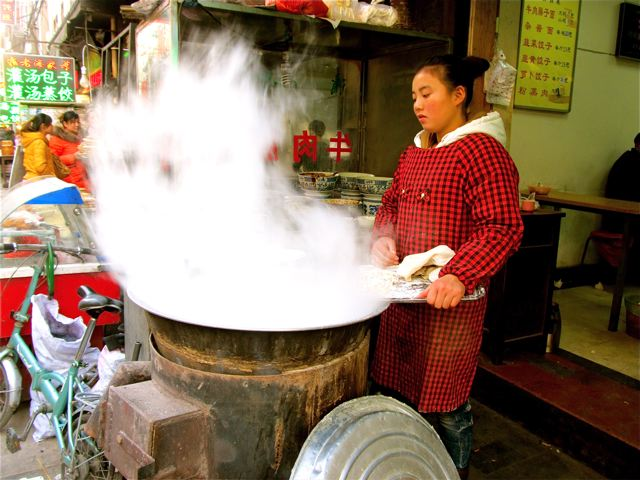 cooking in China on Silk Road