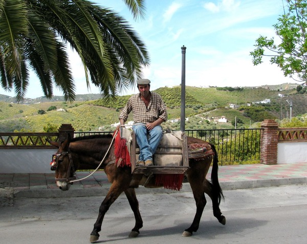 Europe old world rustic charm- going to work on a donkey
