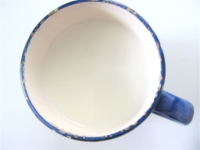 A cup of delicious, healing raw goats milk
