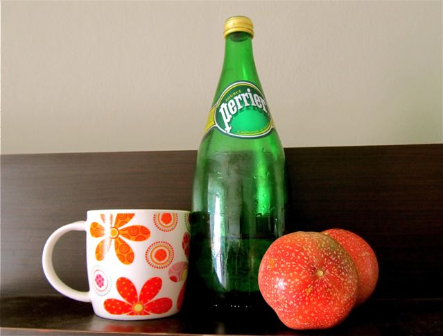 Ingredients for a yummy, natural soda pop a kid can make