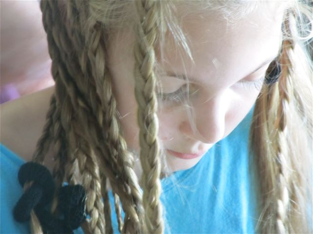 My fast growing tween with Bo Derek braids