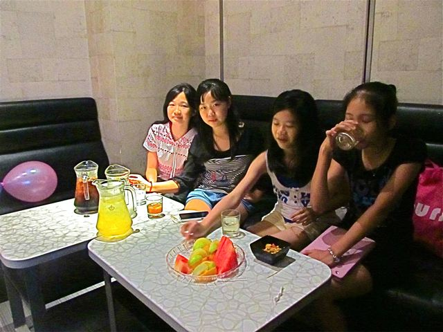 Girlfriends at Karaoke party