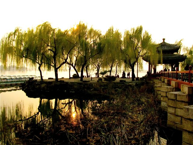 Stunning sunset at the Summer Palace in Beijing, China