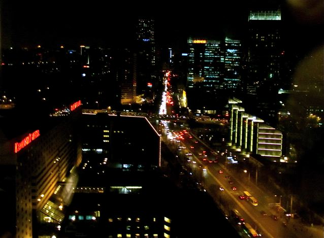night view beijing skyline from four seasons hotel beijing