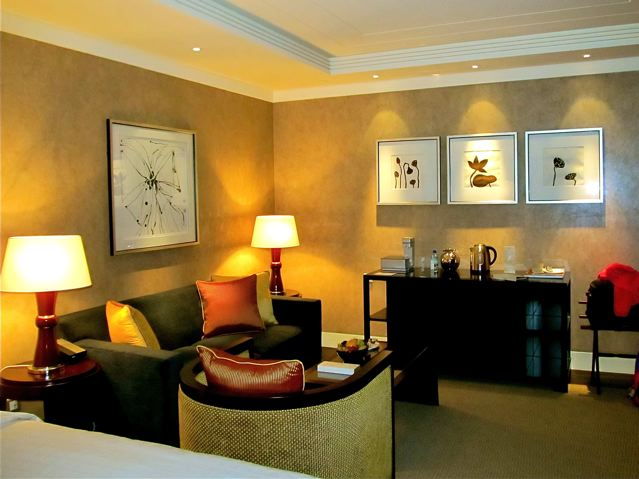 Four Seasons Hotel Beijing - our room seating area