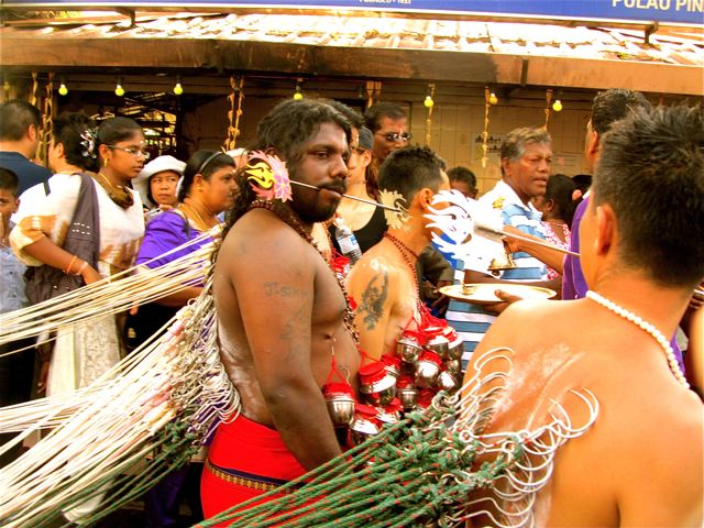 Thaipusam 2013 exotic festival piercings