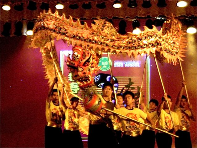 Chinese New Year celebration - dragon dance