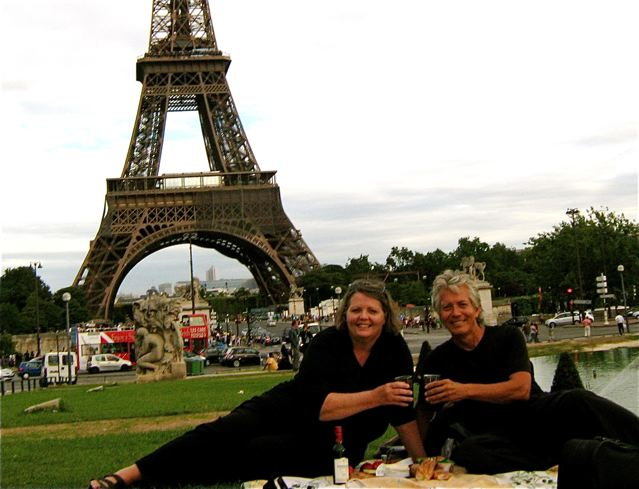 Eiffel tower picnic Paris, France