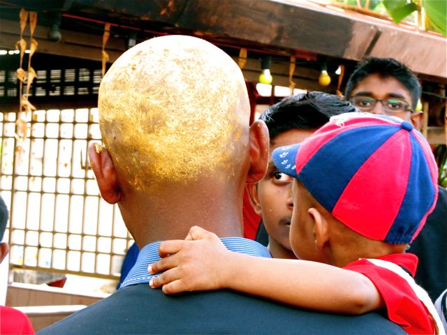 Thaipusam shaved heads