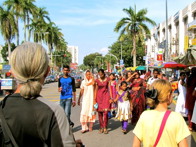 families enjoying Thaipusam